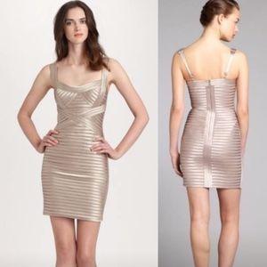 BCBG MaxAriza // Metallic Rivas Bandage Mini Dress